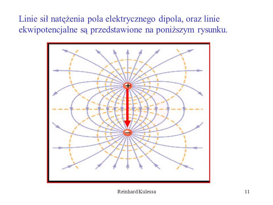 Reinhard Kulessa11 Linie sił natężenia pola elektrycznego dipola, oraz linie ekwipotencjalne są przedstawione na poniższym rysunku.