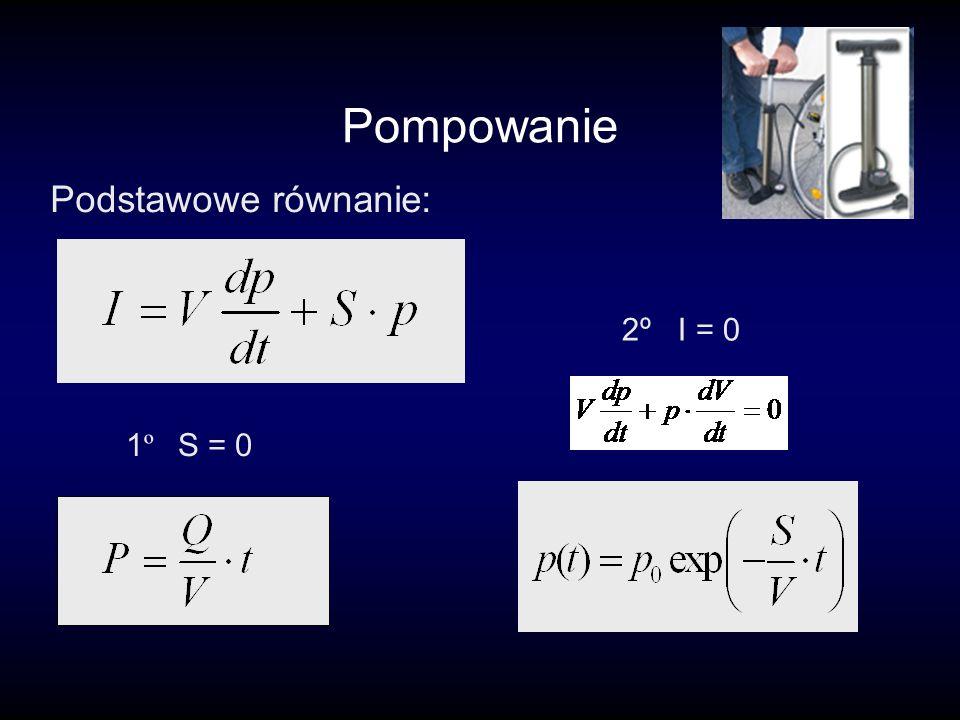 Pompowanie Podstawowe równanie: 1 º S = 0 2º I = 0