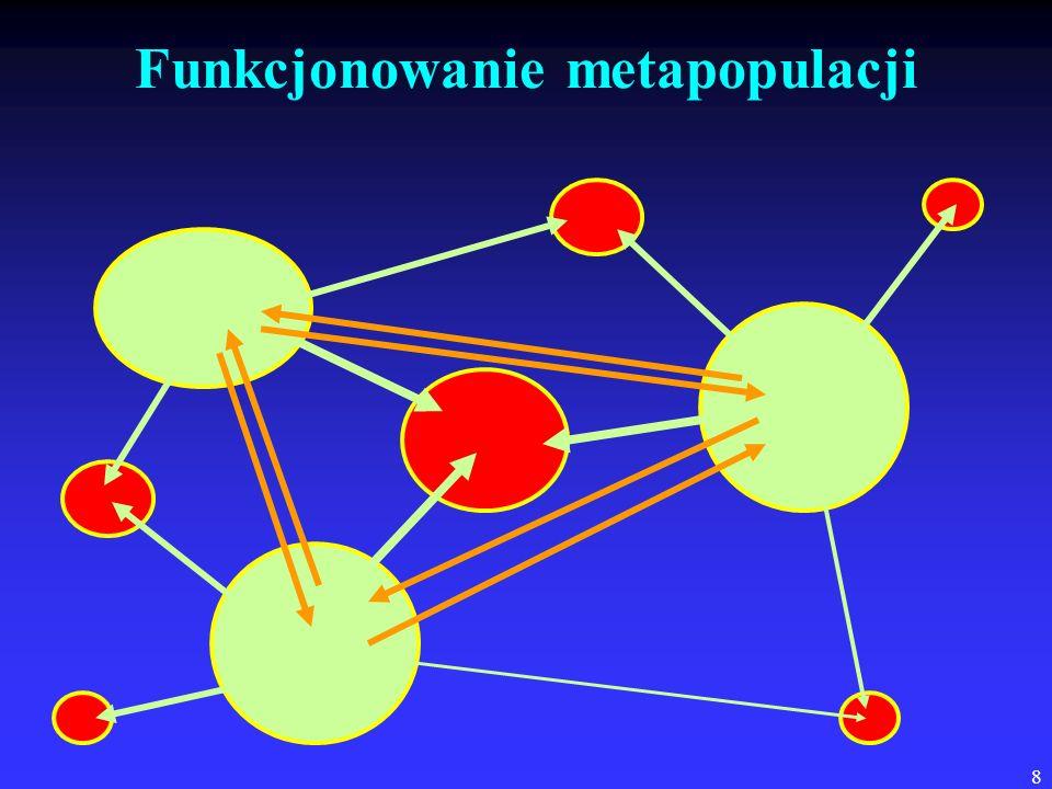 39 Konkurencyjne wypieranie: dwa gatunki Tribolium Procentowy udział gatunku Mikroklimat T.
