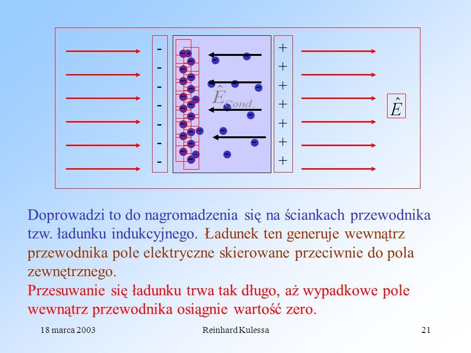18 marca 2003Reinhard Kulessa21 - - - - - - - - - - - - - - - - - - - - - - - - - - - - - - -------------- ++++++++++++++ Doprowadzi to do nagromadzen