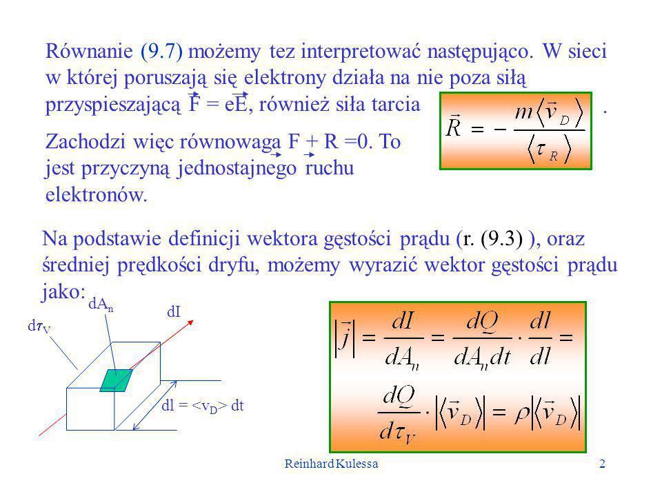 Reinhard Kulessa3 Znajdujemy więc, że, przy czym pamiętamy, że ruchliwość.