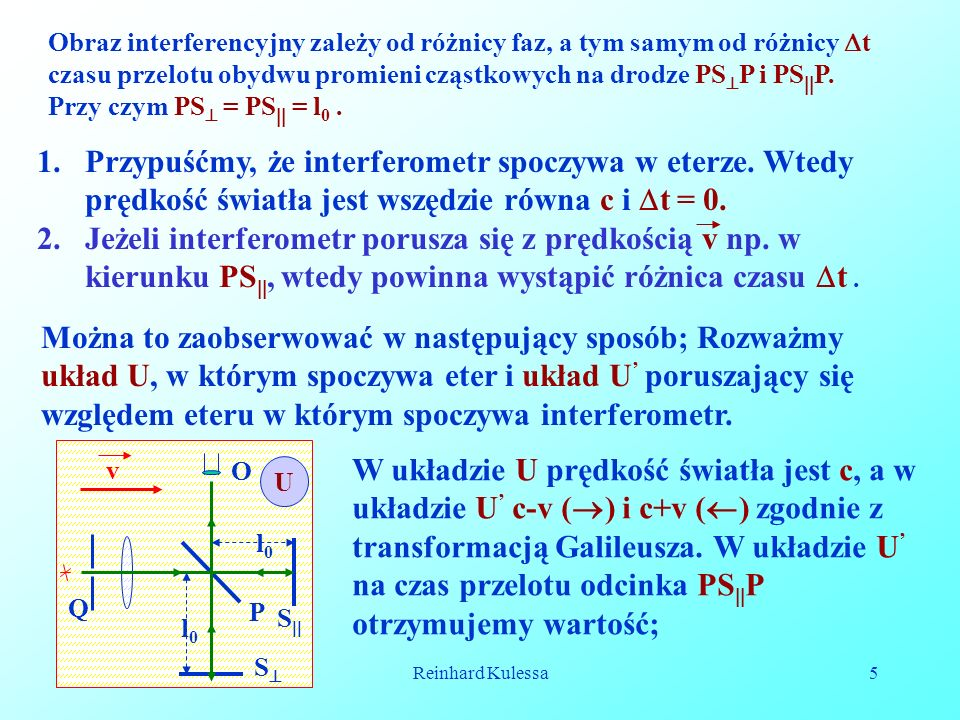 05-12-2008Reinhard Kulessa16 Widzimy więc, że równoczesność jest względna a nie absolutna.