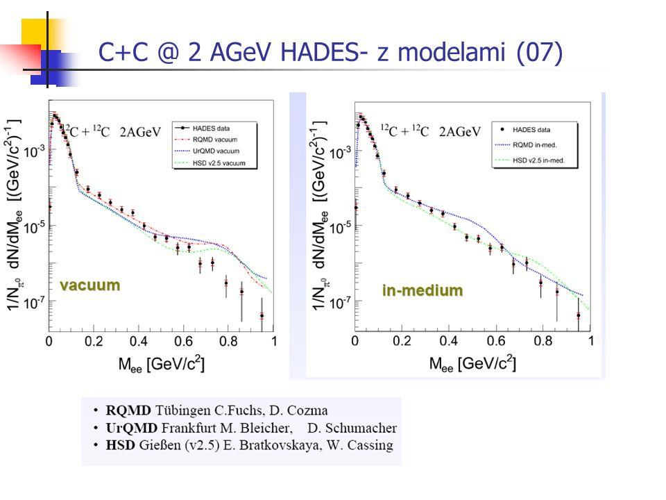 C+C @ 2 AGeV HADES- z modelami (07)