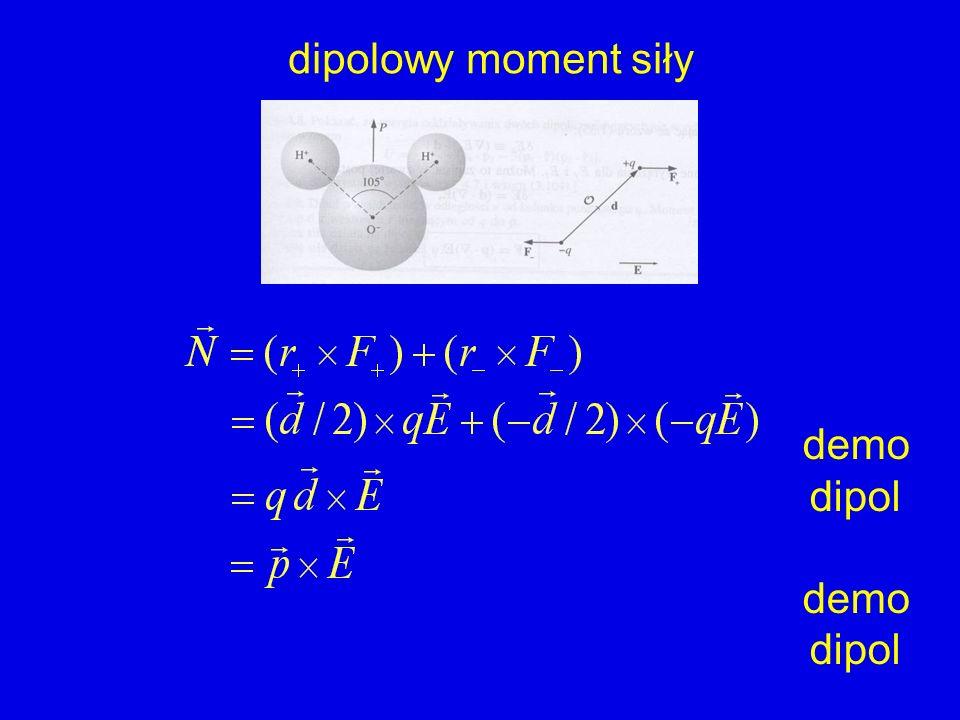 dipolowy moment siły demo dipol demo dipol
