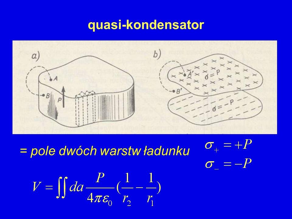 = pole dwóch warstw ładunku quasi-kondensator