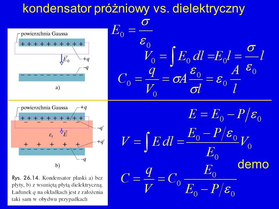 kondensator próżniowy vs. dielektryczny demo