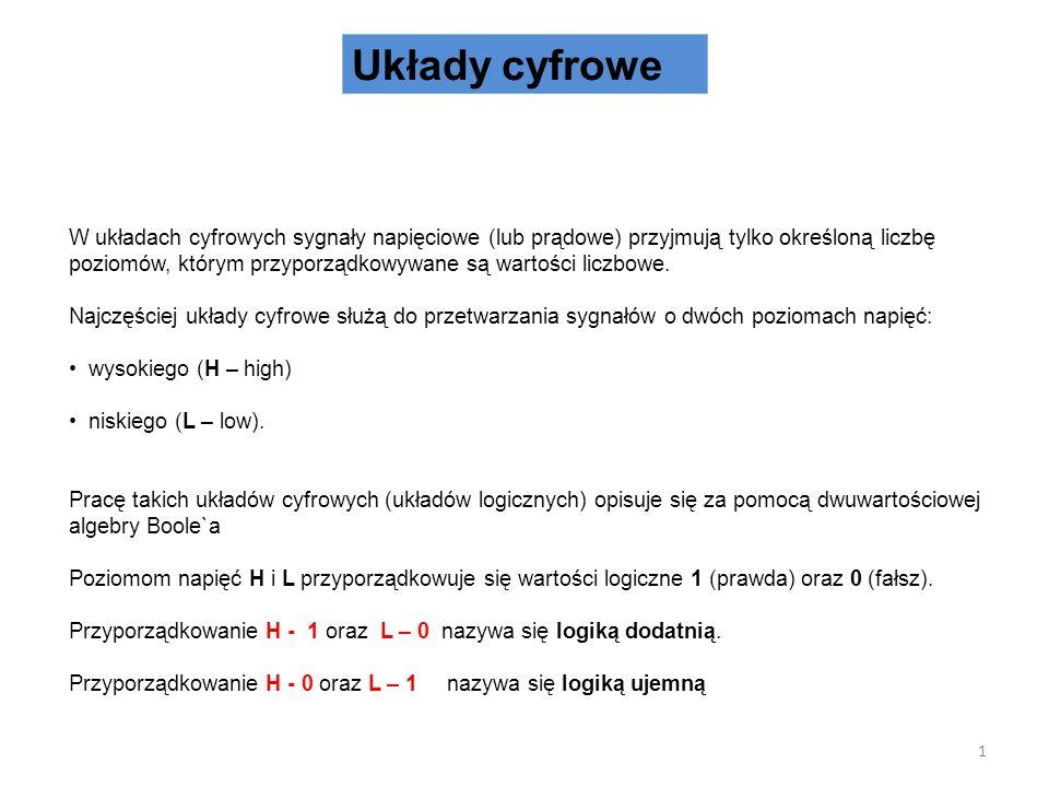 Dekodery 31 q k-1 q 0 p n-1 p 0 k=2 n p n-1 … p 0 – wejścia dekodera q k-1 … q 0 – wyjścia dekodera Dekodery znajdują zastosowanie np.