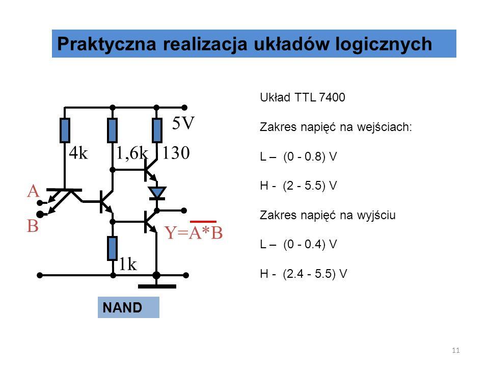 Praktyczna realizacja układów logicznych NOT 10