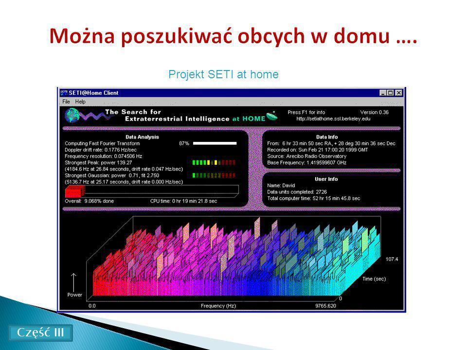 Projekt SETI at home Część III