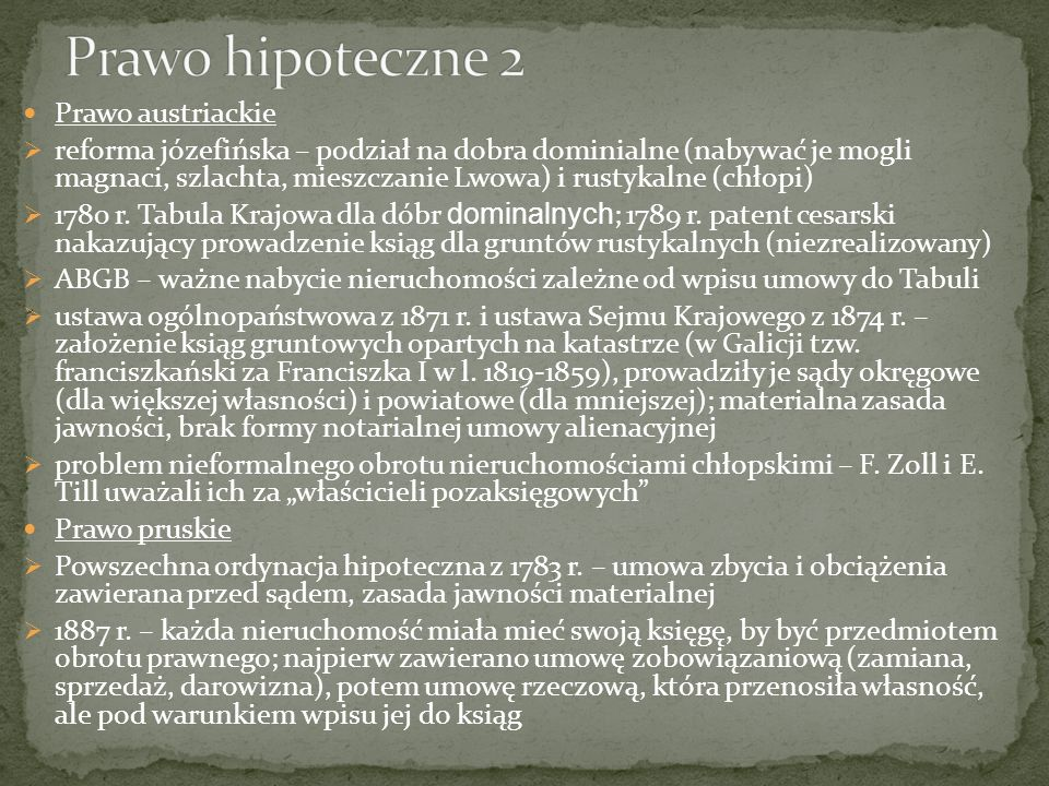PPK (1794) Właścicielem zwie się ten, kto jest mocen samowładnie, przez samego siebie lub przez trzeciego rozporządzać istotą rzeczy lub prawa z wyłączeniem innych.