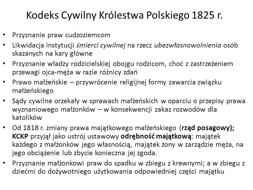 Kodeks Cywilny Królestwa Polskiego 1825 r.