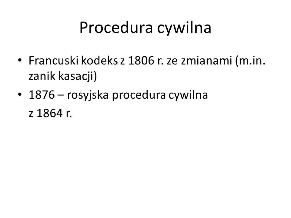 Procedura cywilna Francuski kodeks z 1806 r.ze zmianami (m.in.