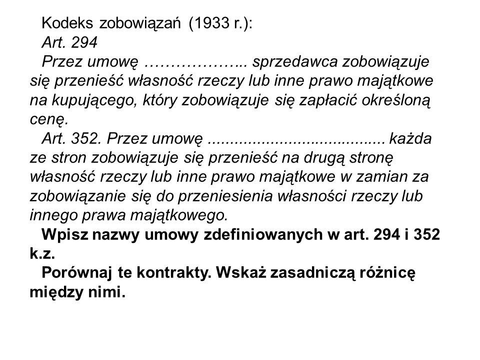 Kodeks zobowiązań (1933 r.) Art.430 § 1.