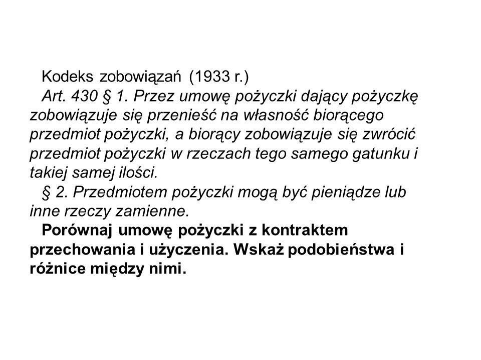 Kodeks zobowiązań (1933 r.): Art.625.