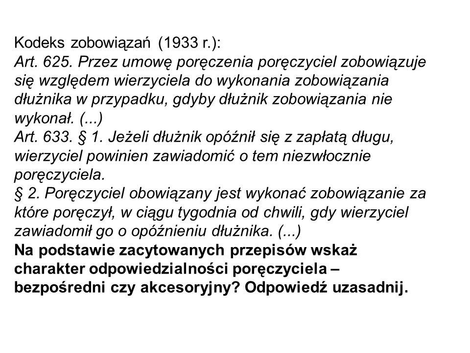 Kodeks zobowiązań (1933 r.): Art.478.