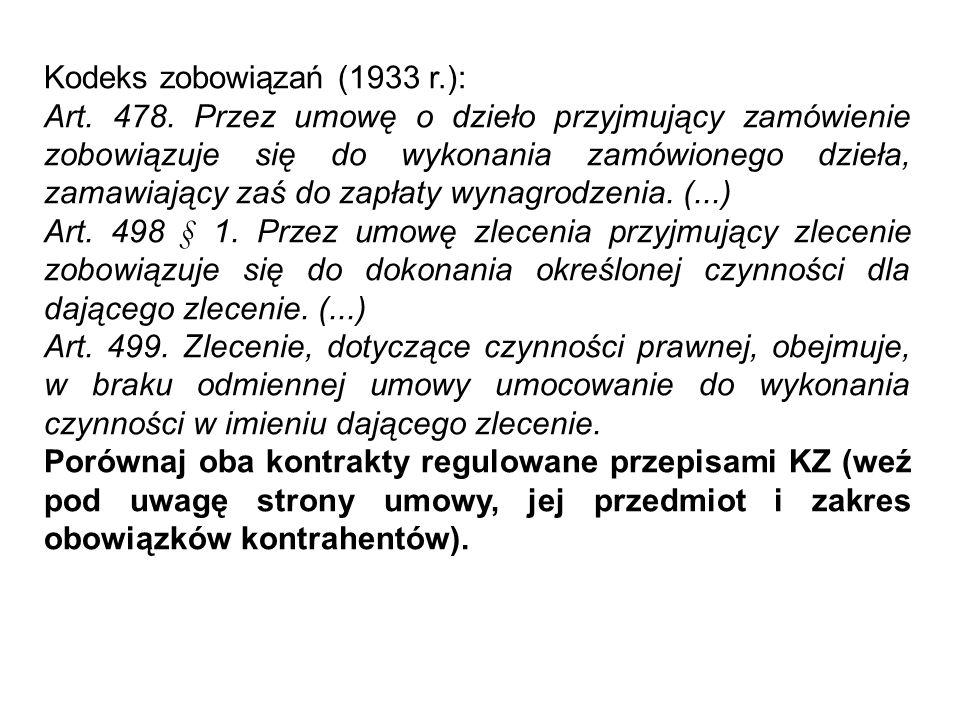 Kodeks zobowiązań (1933 r.): Art.152 § 1.