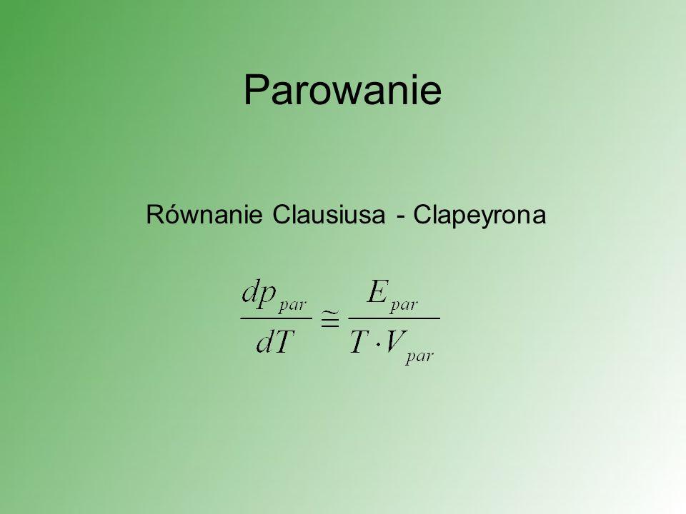 Parowanie Równanie Clausiusa - Clapeyrona
