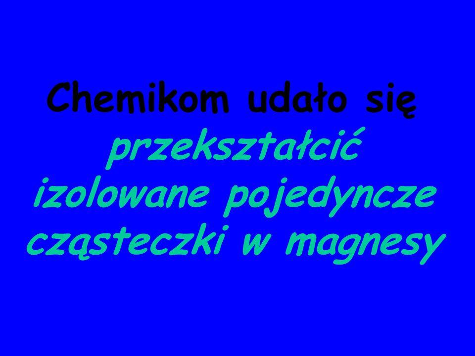 Magnesy molekularne Nieorganiczne magnetyczne materiały molekularne – indywidualne wielordzeniowe cząsteczki lub polimeryczne związki wielordzeniowe zawierające centra metaliczne z niesparowanymi elektronami sprzężone poprzez mostki ligandowe