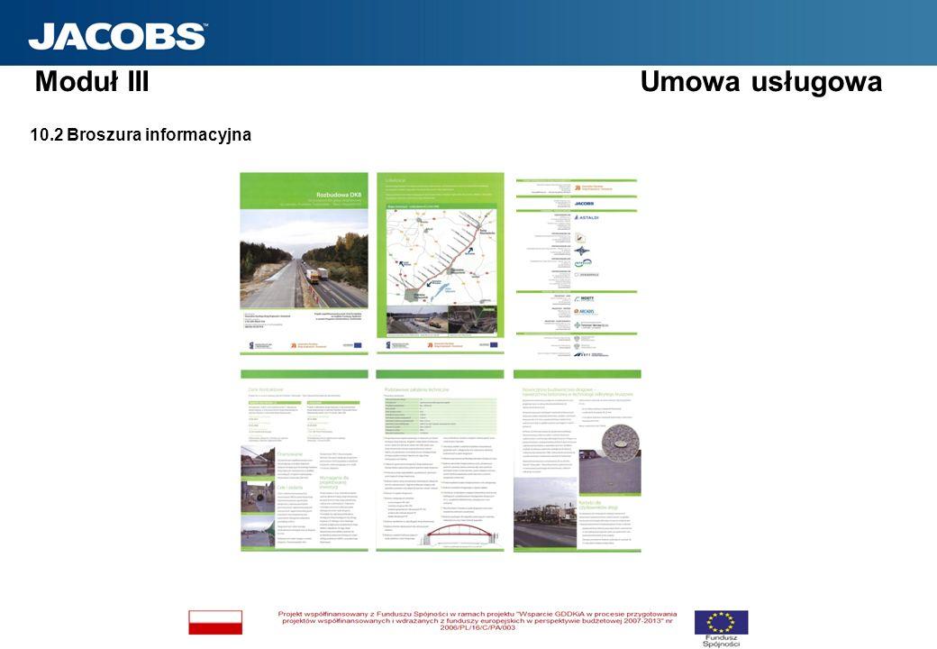 10.2 Broszura informacyjna Moduł III Umowa usługowa
