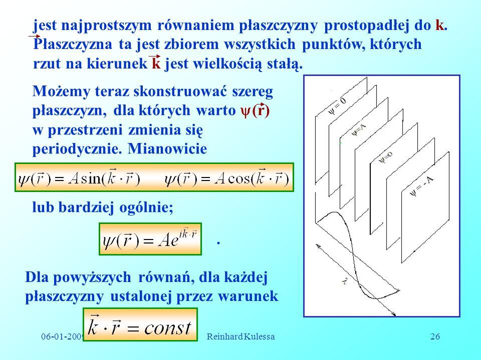 06-01-2009Reinhard Kulessa26 jest najprostszym równaniem płaszczyzny prostopadłej do k. Płaszczyzna ta jest zbiorem wszystkich punktów, których rzut n