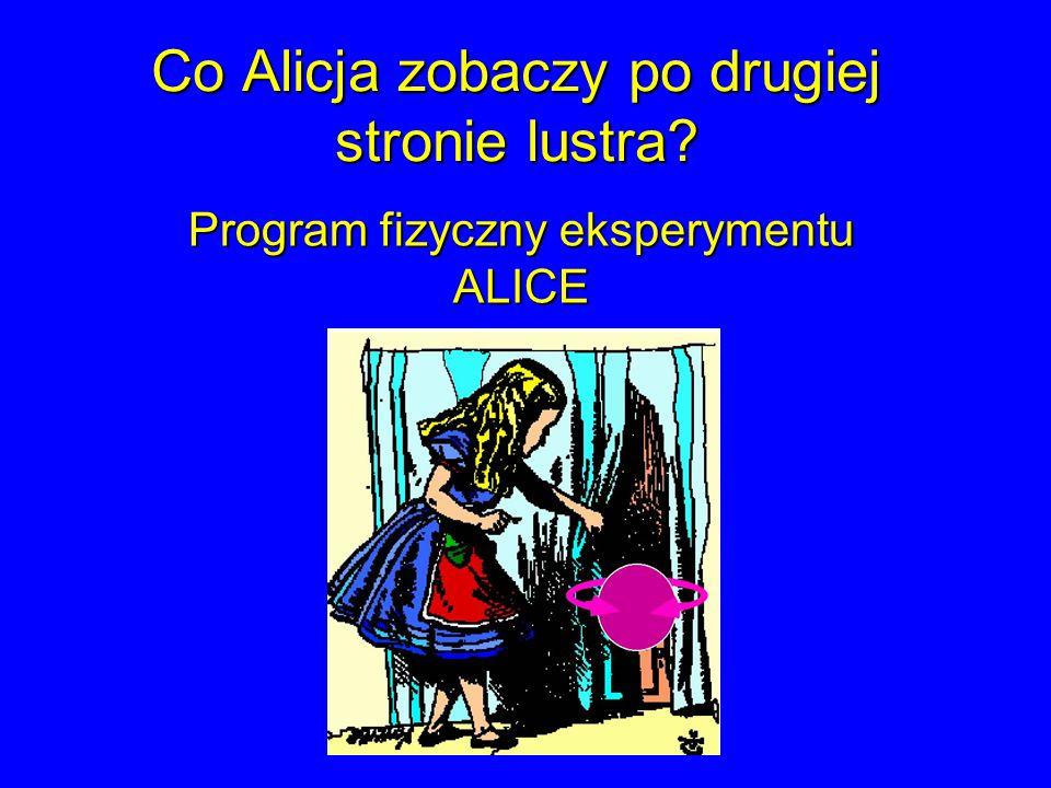 Co Alicja zobaczy po drugiej stronie lustra? Program fizyczny eksperymentu ALICE
