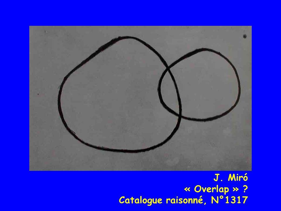 J. Miró « Overlap » ? Catalogue raisonné, N°1317