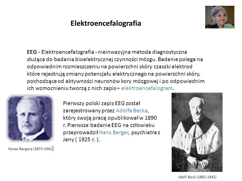Elektroencefalografia EEG - Elektroencefalografia - nieinwazyjna metoda diagnostyczna służąca do badania bioelektrycznej czynności mózgu. Badanie pole