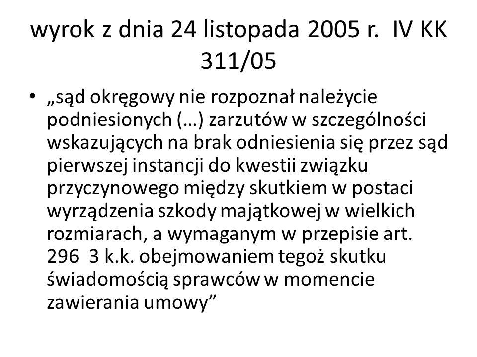 wyrok z dnia 24 listopada 2005 r. IV KK 311/05 sąd okręgowy nie rozpoznał należycie podniesionych (…) zarzutów w szczególności wskazujących na brak od