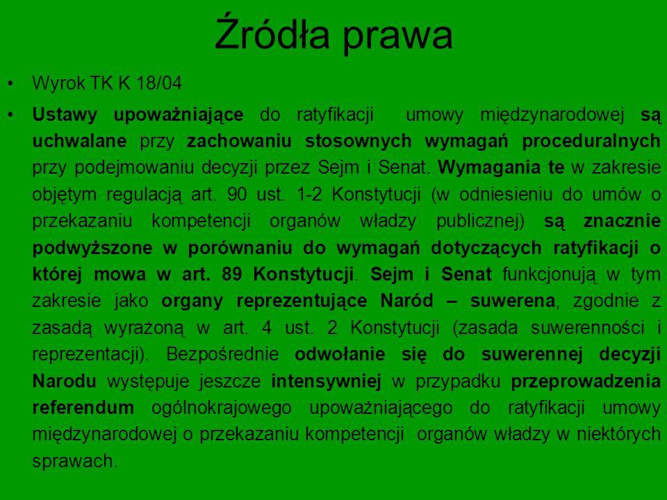 Źródła prawa Art.89 ust.