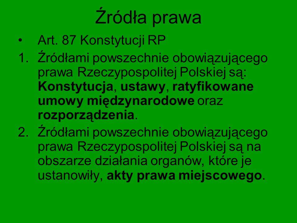 Źródła prawa Art.