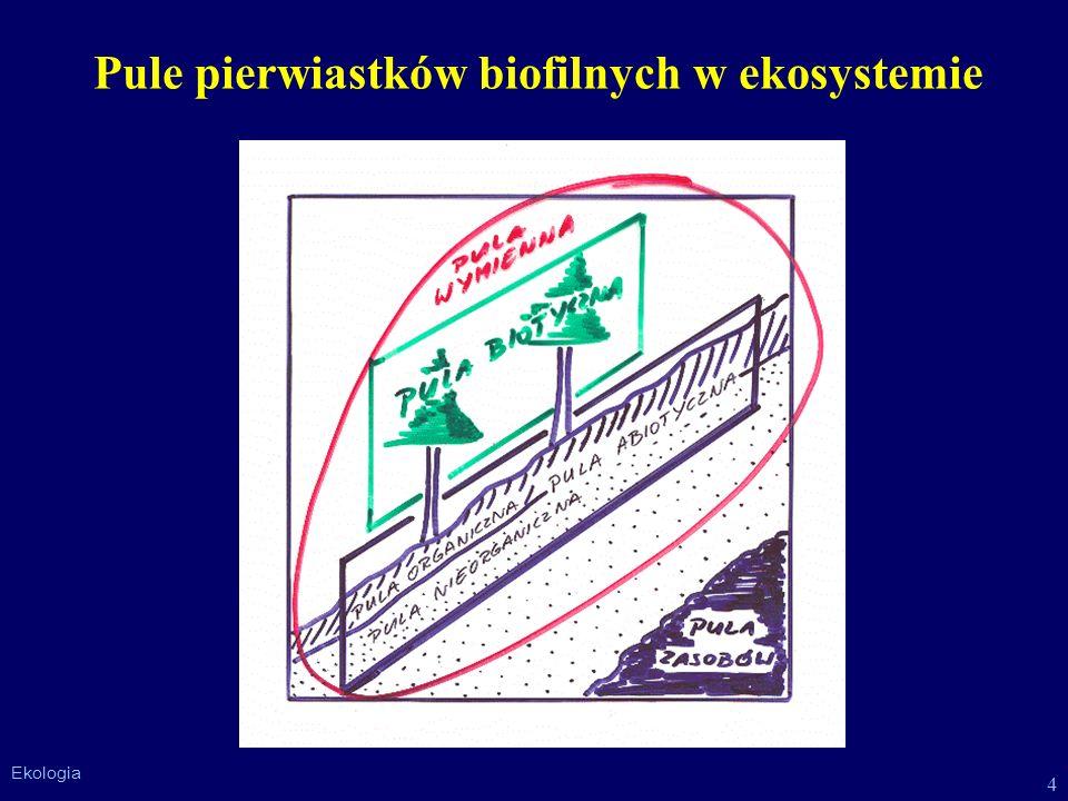 4 Ekologia Pule pierwiastków biofilnych w ekosystemie