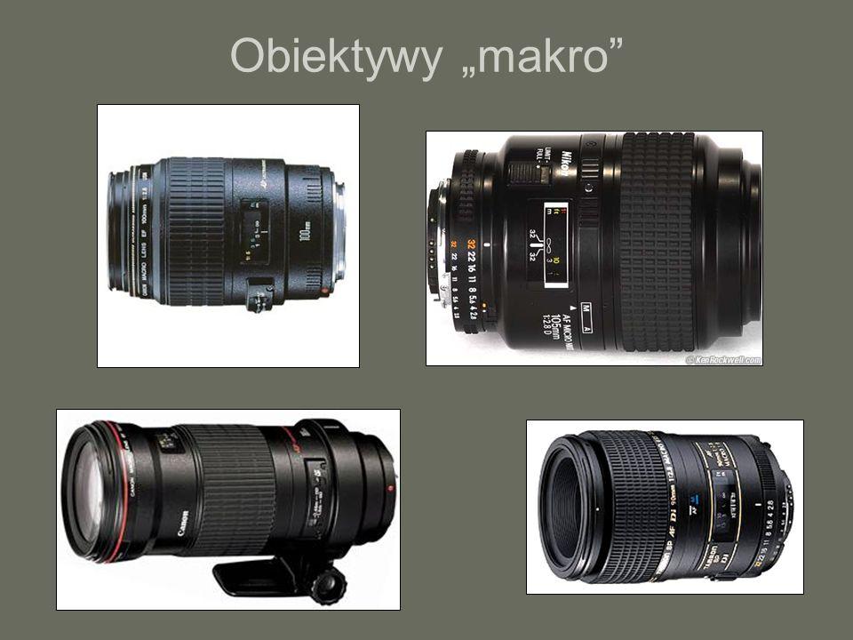 Zalety: –doskonały układ optyczny (zaprojektowany specjalnie do makrofotografii) –skala odwzorowania min.
