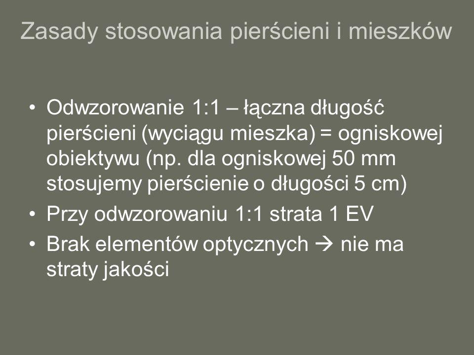 Rozdzielczość a wielkość matrycy Matryca kompaktowa: np.