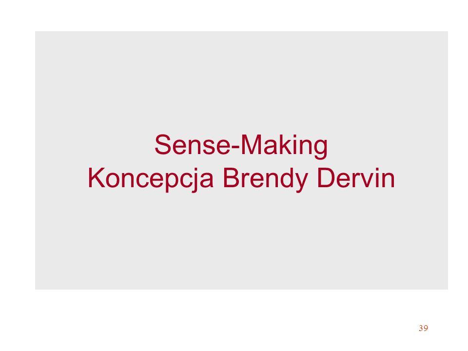 39 Sense-Making Koncepcja Brendy Dervin