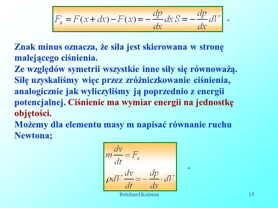 Reinhard Kulessa15. Znak minus oznacza, że siła jest skierowana w stronę malejącego ciśnienia. Ze względów symetrii wszystkie inne siły się równoważą.
