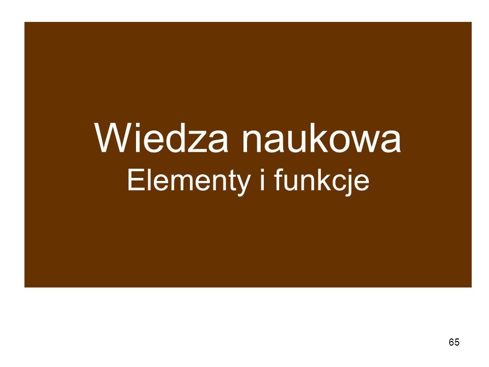 65 Wiedza naukowa Elementy i funkcje