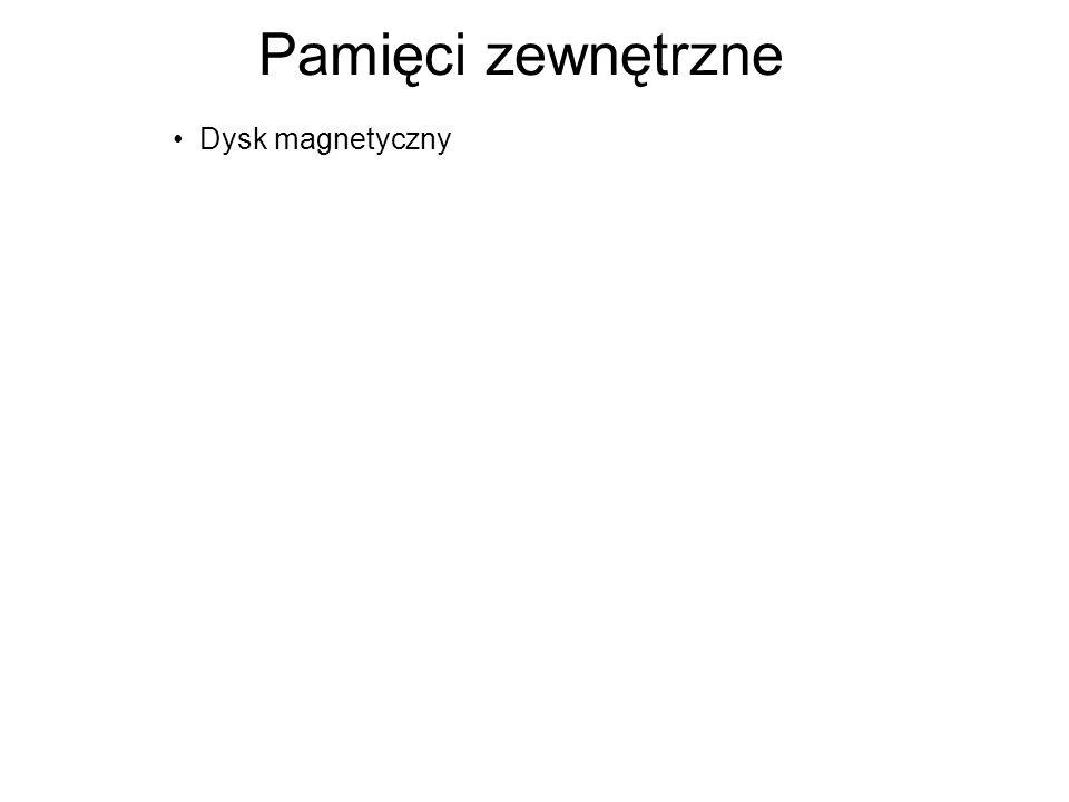 Pamięci zewnętrzne Dysk magnetyczny
