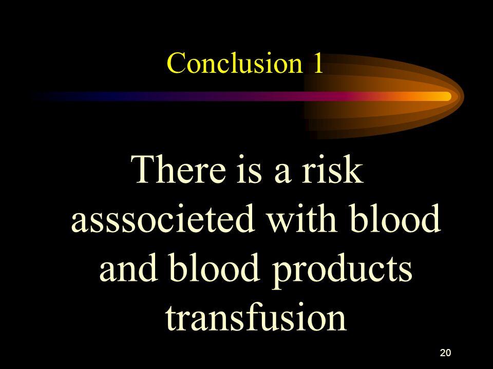 19 Posttransfusion reactions Shock and hemolysis Delayed hemolysis Fever Allergy Volume overload Pulmonary oedema Sepsis Thrombocytopenia Graft versus