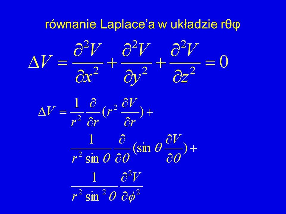 równanie Laplacea w układzie rθφ