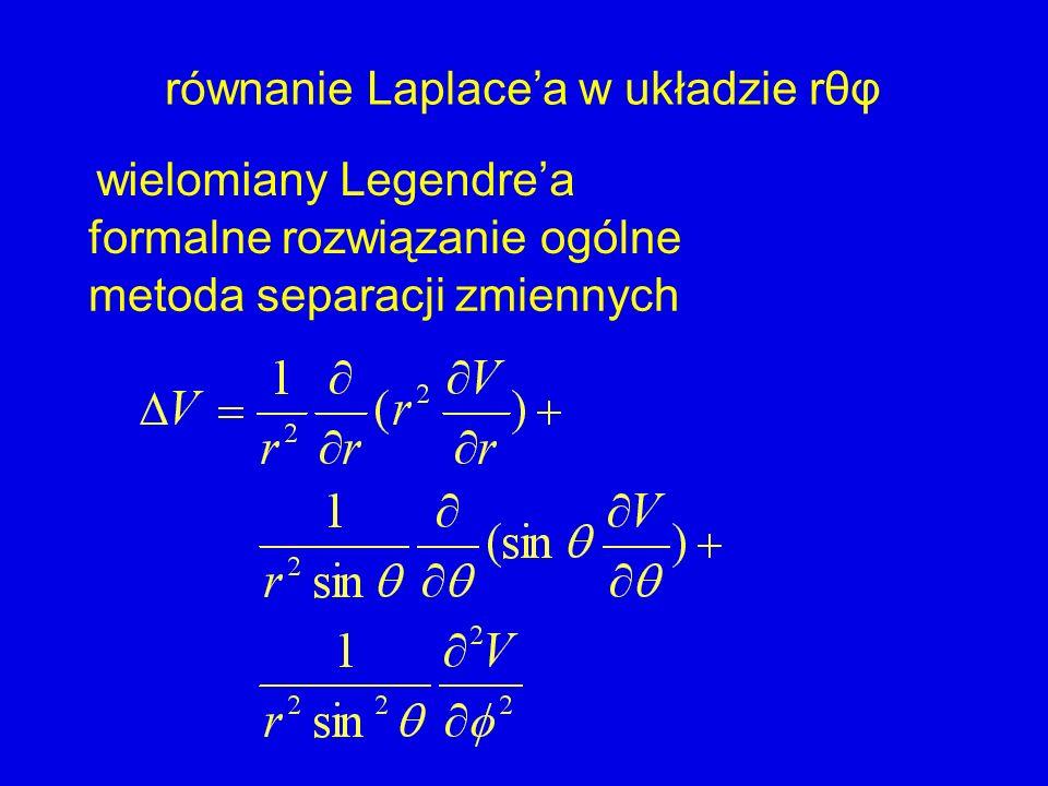 metoda separacji zmiennych formalne rozwiązanie ogólne wielomiany Legendrea