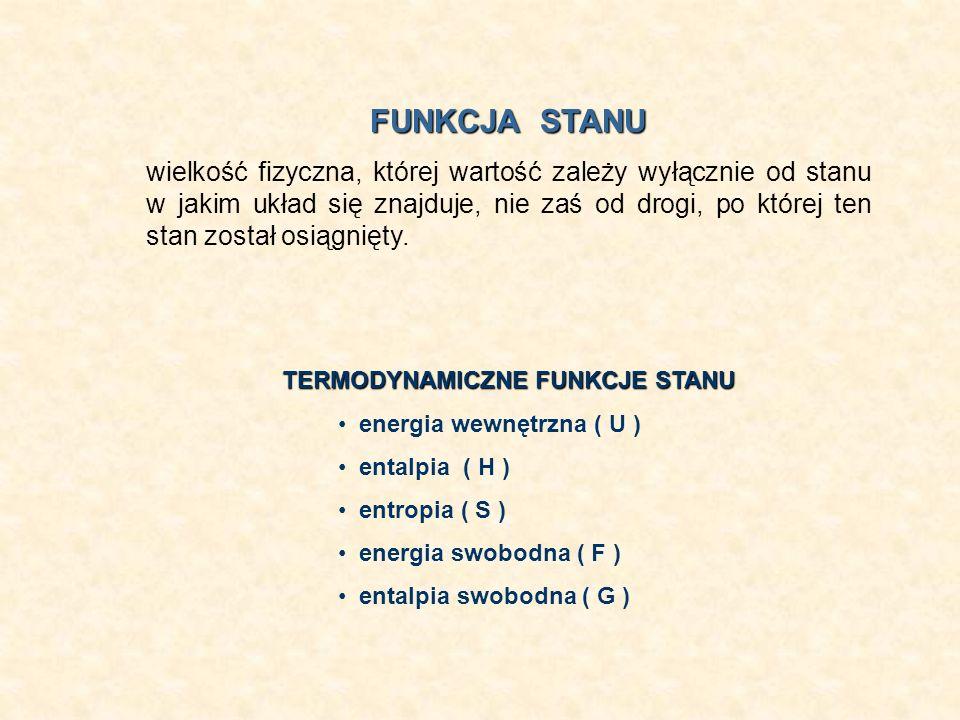 FUNKCJA STANU wielkość fizyczna, której wartość zależy wyłącznie od stanu w jakim układ się znajduje, nie zaś od drogi, po której ten stan został osią