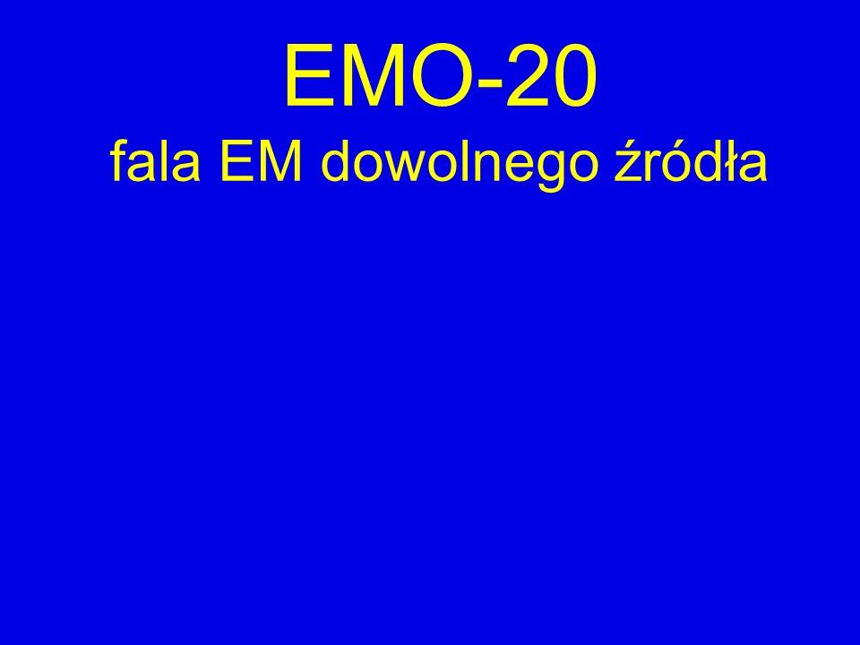 EMO-20 fala EM dowolnego źródła
