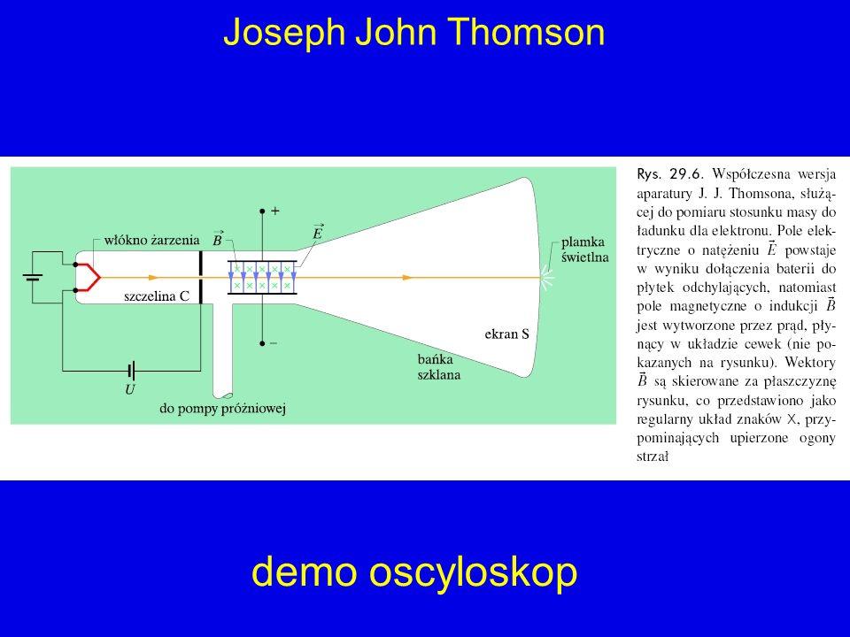 demo oscyloskop Joseph John Thomson