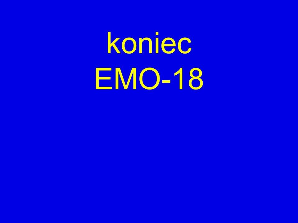 koniec EMO-18