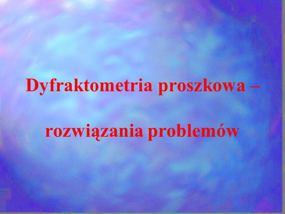 Dyfraktometria proszkowa – rozwiązania problemów