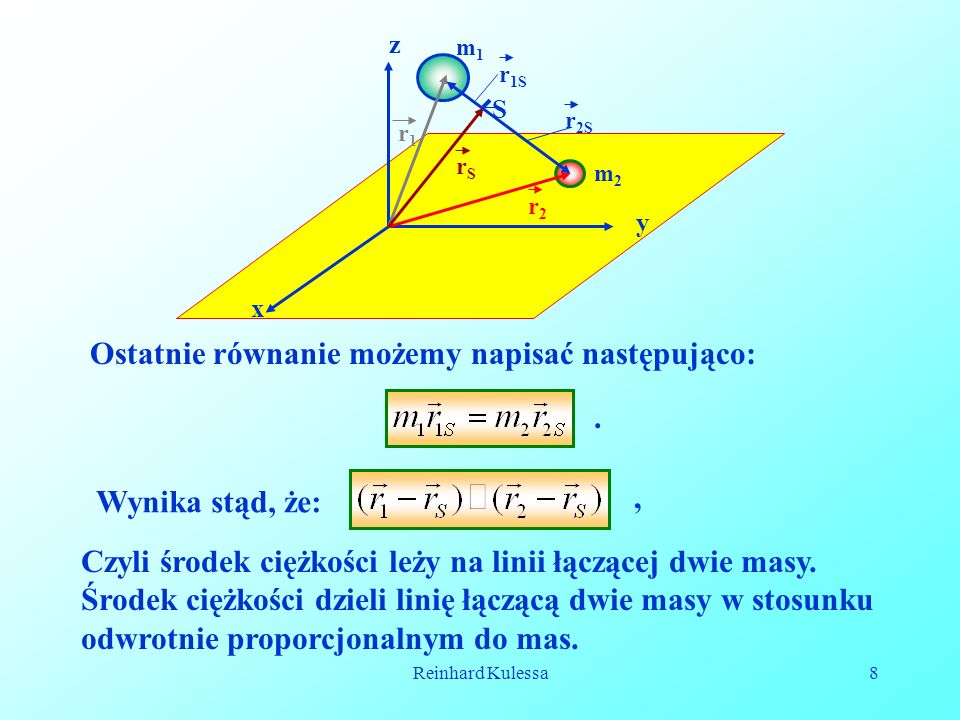 Reinhard Kulessa8 Ostatnie równanie możemy napisać następująco:.