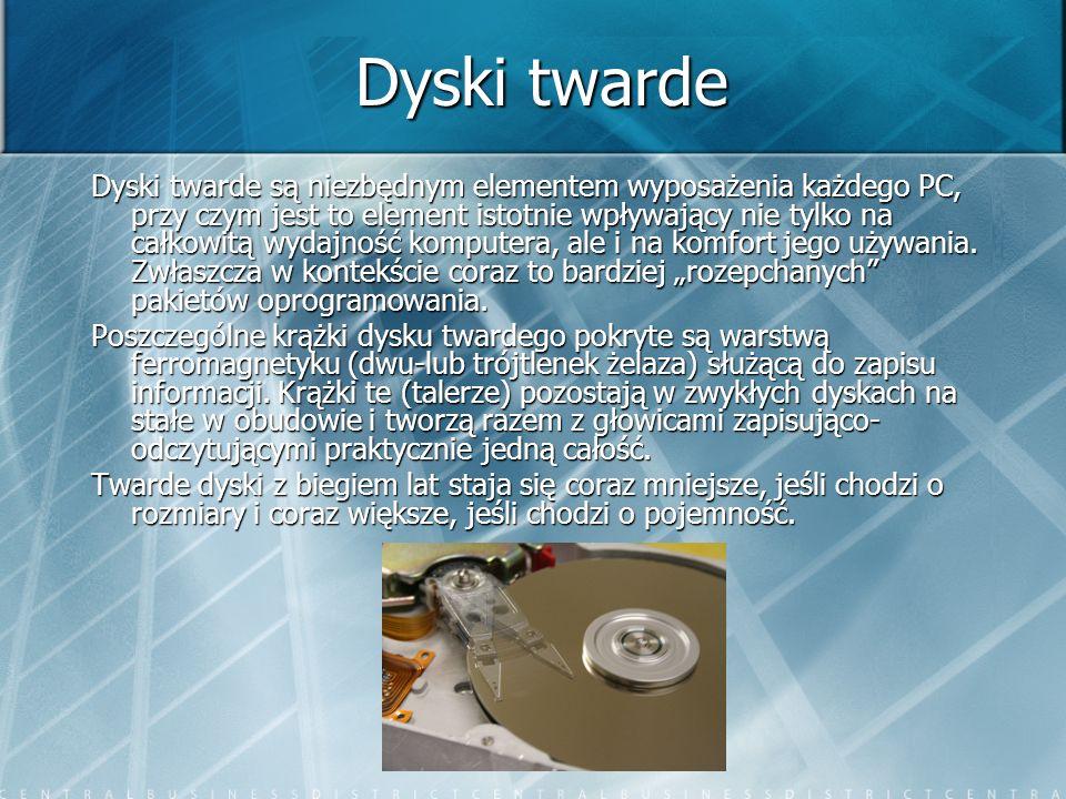 Historia Rozwój technologiczny dysków twardych na przestrzeni ostatnich kilkudziesięciu lat, pod względem dynamiki można porównać chyba tylko z rozwojem układów scalonych.