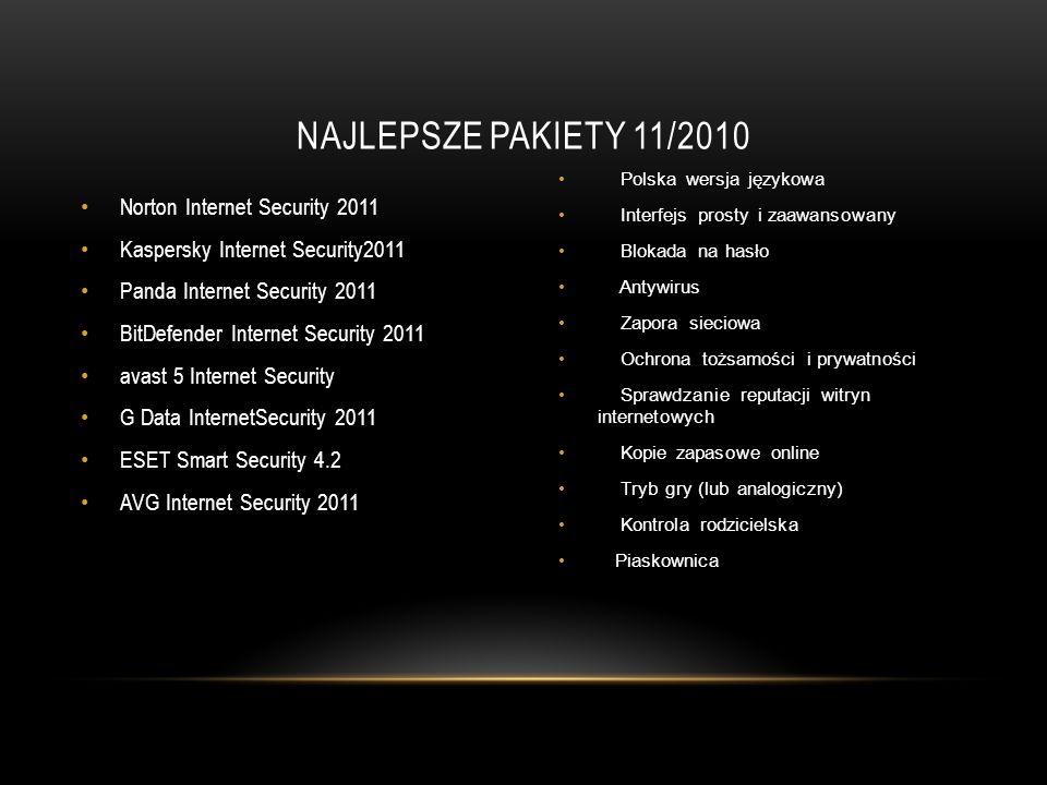 Norton Internet Security 2011 Kaspersky Internet Security2011 Panda Internet Security 2011 BitDefender Internet Security 2011 avast 5 Internet Securit
