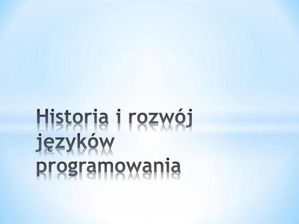 Historia języków programowania rozpoczyna się w epoce taśm perforowanych i komputera Eniac.