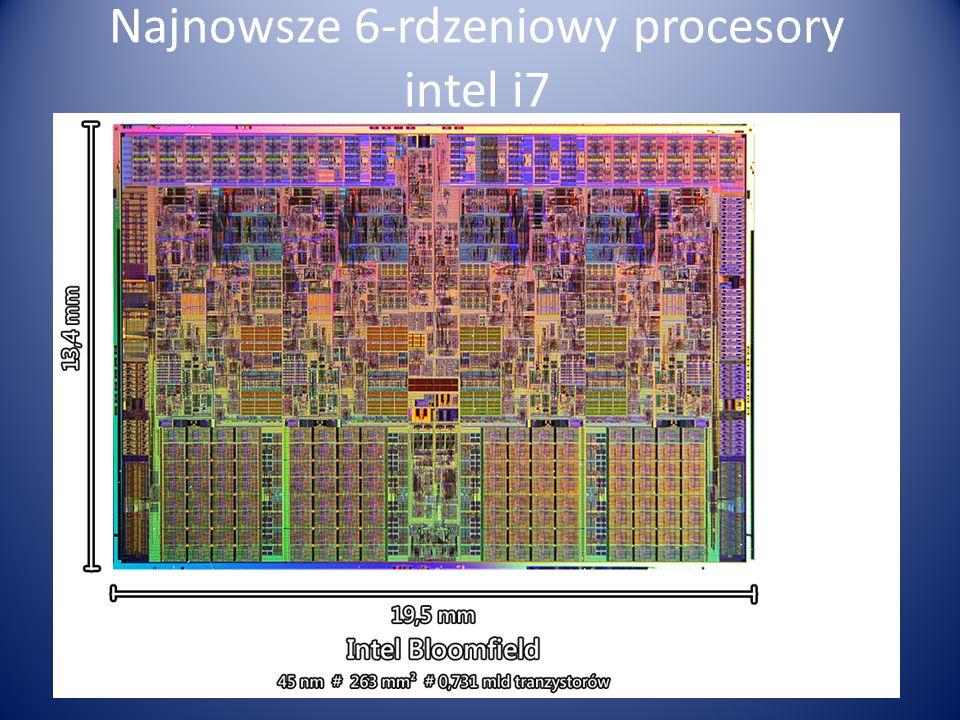 Najnowsze 6-rdzeniowy procesory intel i7